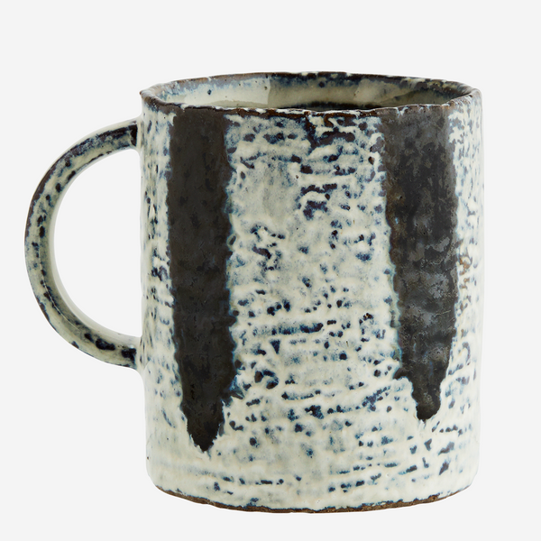 overglazed striped tea mug