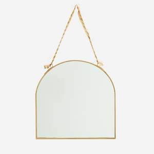 Hanging Arch Top Brass Mirror
