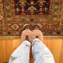 Load image into Gallery viewer, Handmade Embroidered Light Sheepskin Slippers