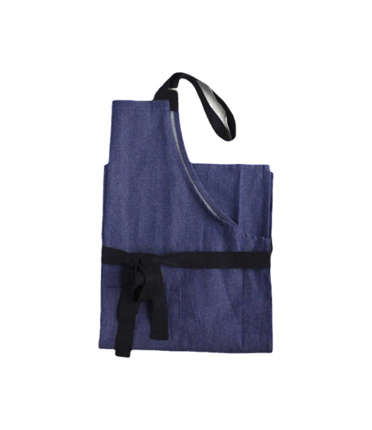 Denim Apron with Patch Pocket