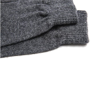 Charcoal Grey Mongolian Cashmere Gloves