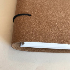 A4 Recycled Leather Bound Paper Notebook
