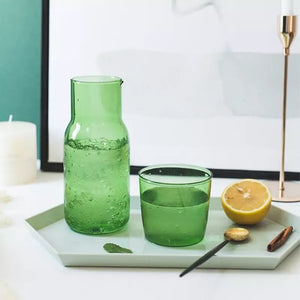 Coloured Water Jug & Drinking Glass