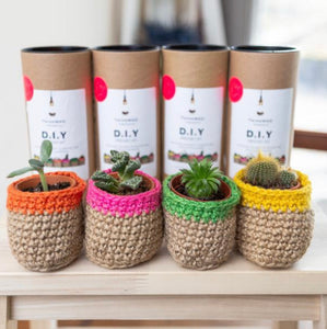 DIY Jute Twine Pot Making Crochet Kit