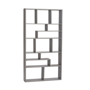 Grey Bookshelf Etagere Shelving Unit