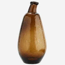 Load image into Gallery viewer, Recycled Amber Glass vase