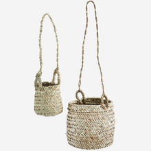 Load image into Gallery viewer, Pair of Hanging Raffia Baskets