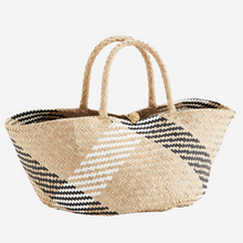 Load image into Gallery viewer, Seagrass Check Basket Bag