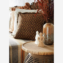 Load image into Gallery viewer, Striped Mustard, Ecru & Brown Woven Throw