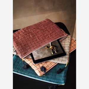 Checked iPad Cover with Tassel