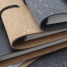 Load image into Gallery viewer, A4 Recycled Leather Bound Paper Notebook
