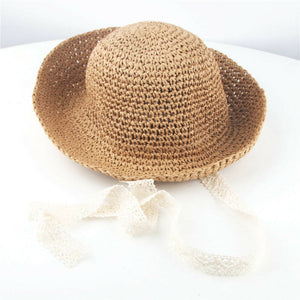 Handmade Foldable Straw Children's Hat