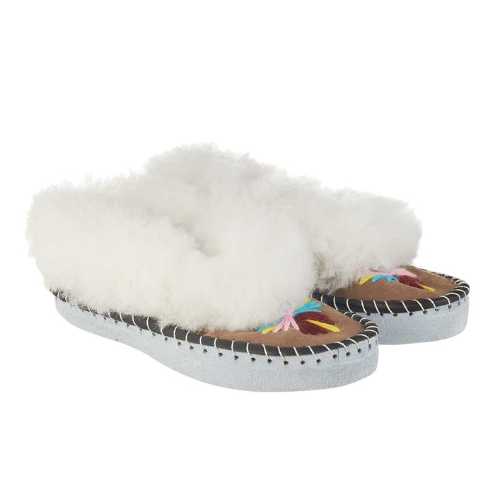 childrens kids embroidered sheepskin slippers polish wool handmade moccasins