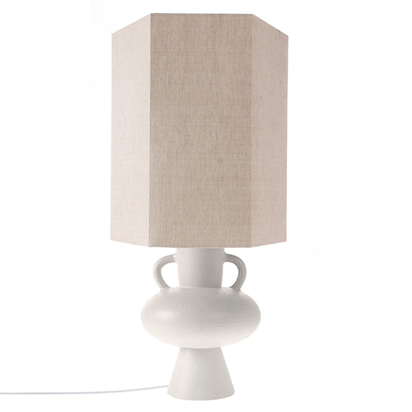 White Table Lamp Base with Handles