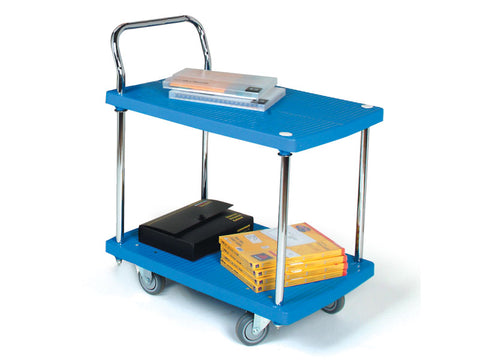 2 Shelf Plastic Office Trolley