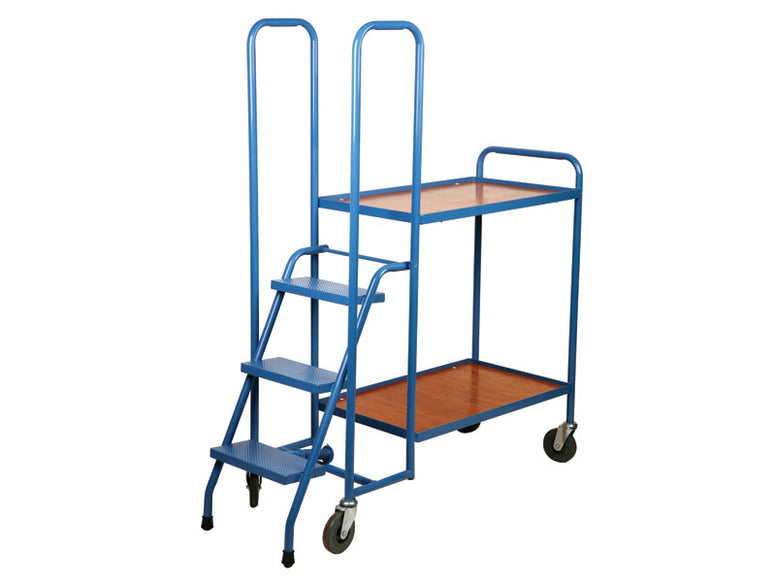 2 Shelf Plywood Order Picking Trolley