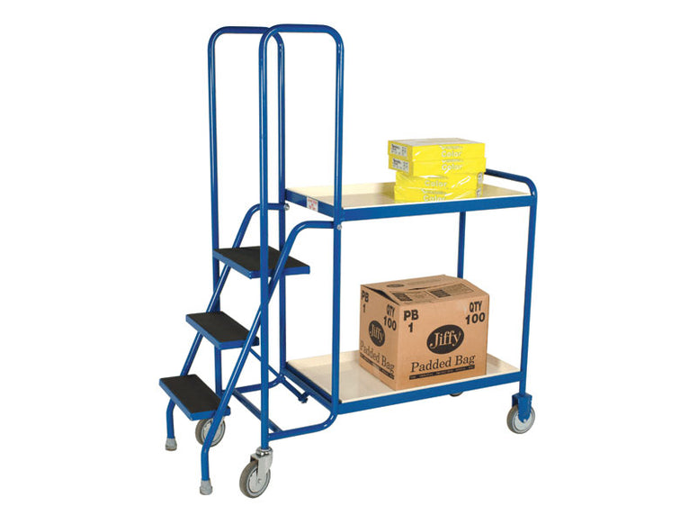 2 Shelf Steel Order Picking Trolley