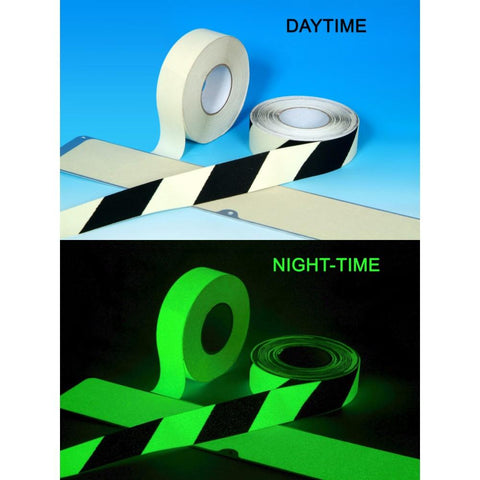 Glow In The Dark Safety Grip - Anti Slip Photoluminescent Safety Tape