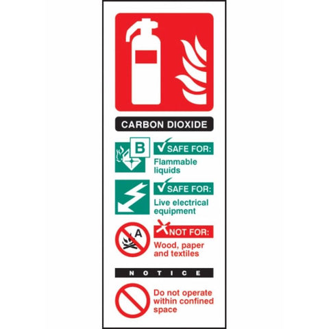Co2 extinguisher identification sign from Floorsaver