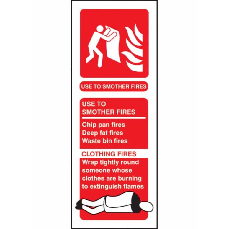 Fire blanket identification sign from Floorsaver