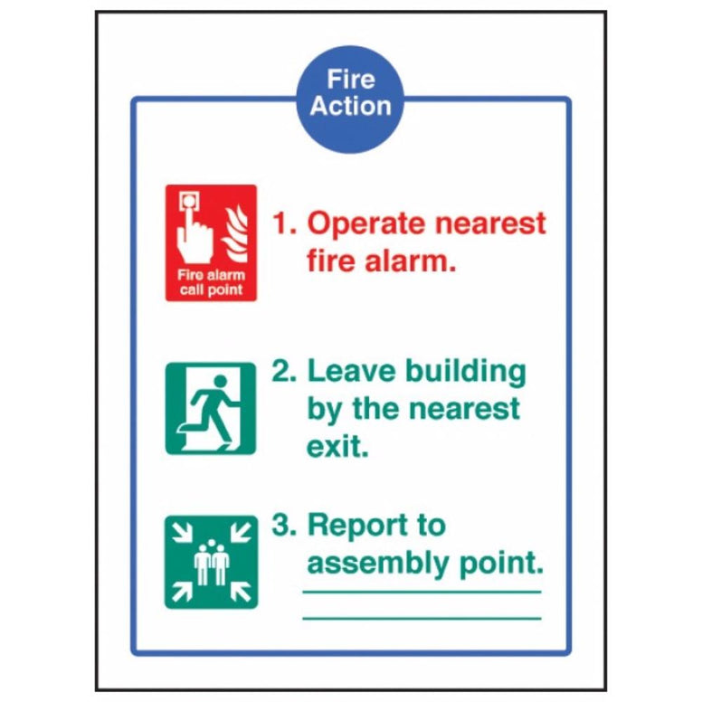 Fire action - EEC sign from Floorsaver