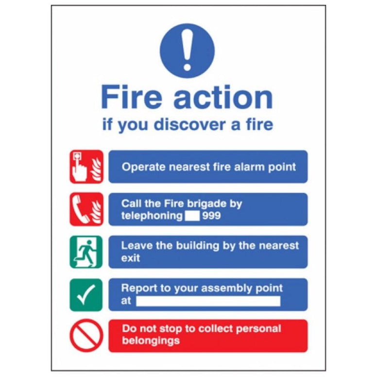 Fire action manual dial without lift sign from Floorsaver