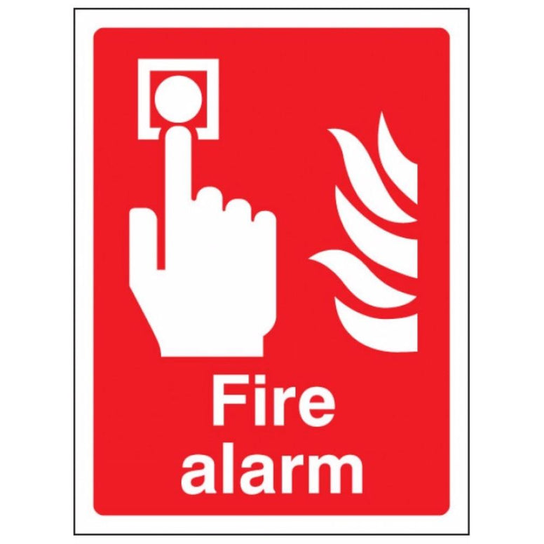 Fire alarm sign from Floorsaver