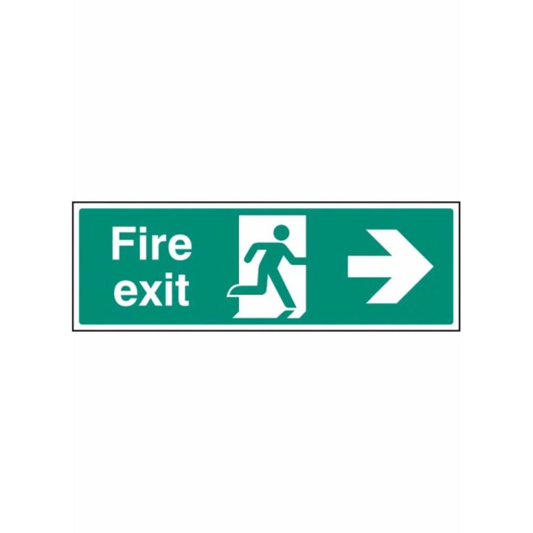 Fire exit - right sign from Floorsaver