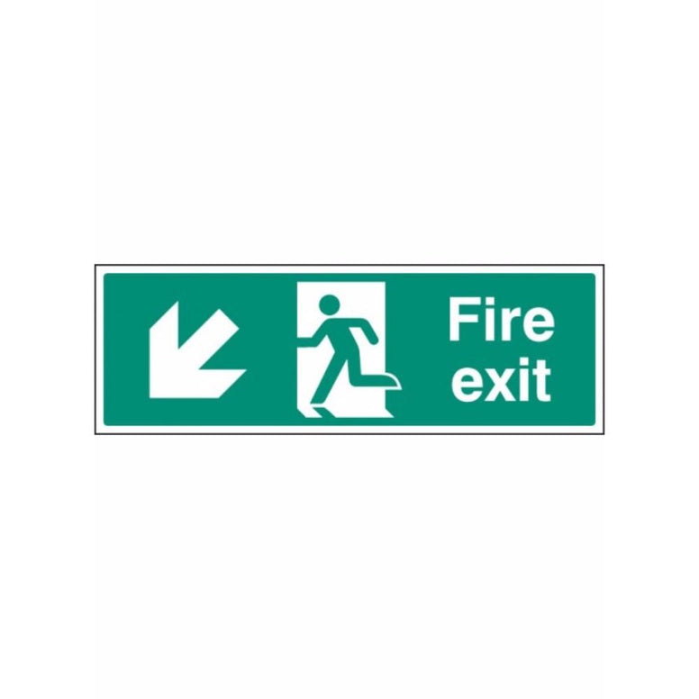Fire exit - down and left sign from Floorsaver