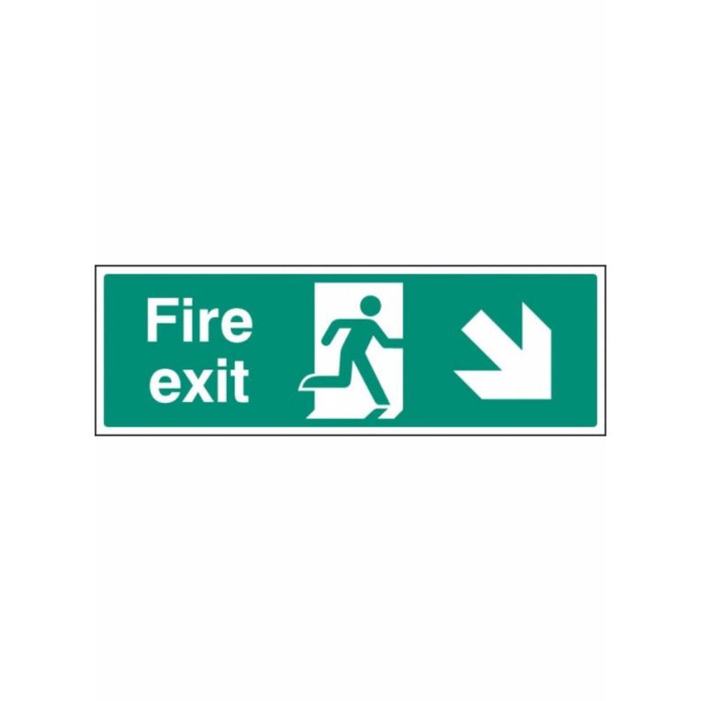 Fire exit - down and right sign from Floorsaver
