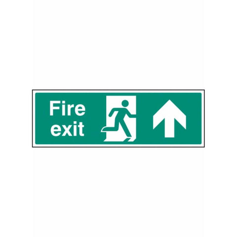 Fire exit - straight on sign from Floorsaver