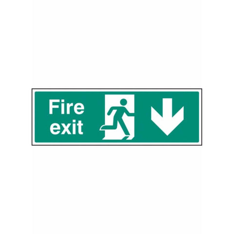Fire exit - down sign from Floorsaver