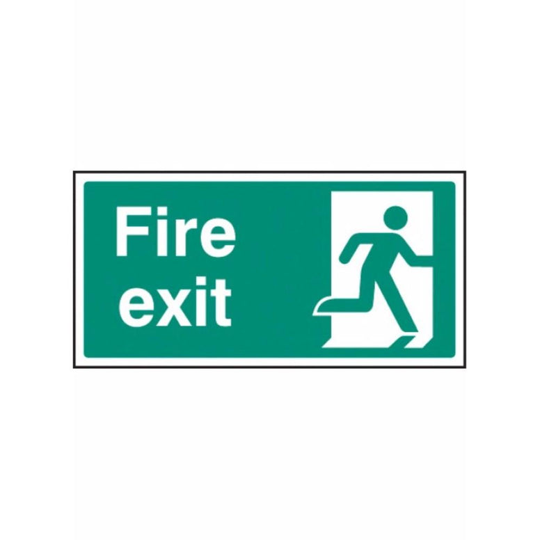 Final fire exit - right sign from Floorsaver