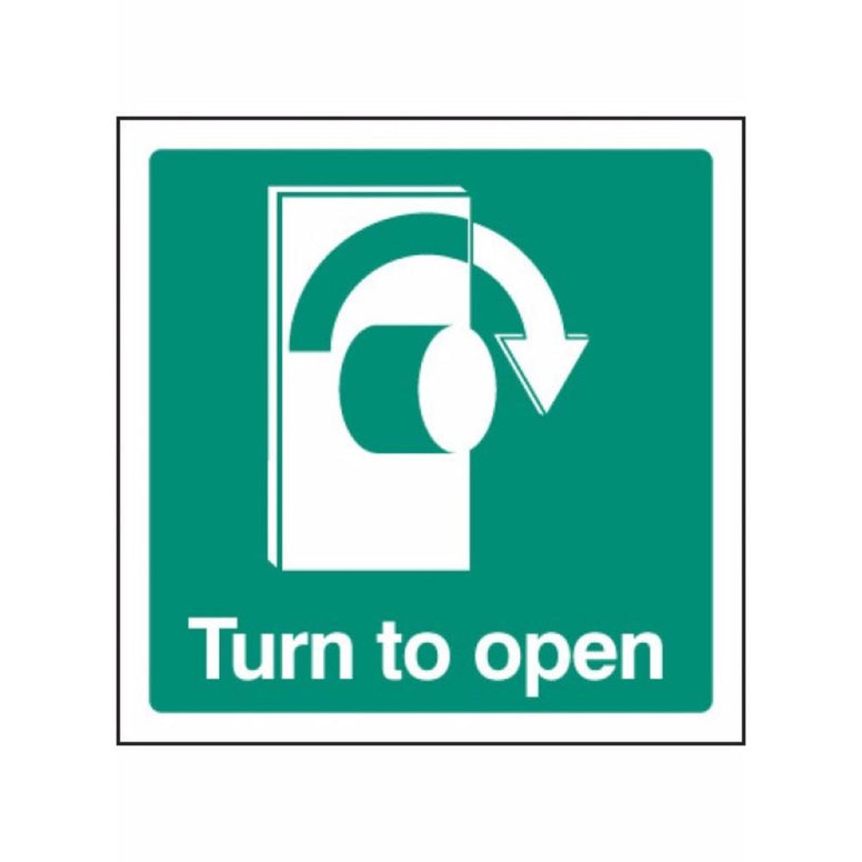 Turn to open - right sign from Floorsaver