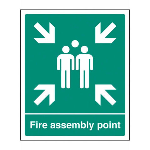 Fire assembly point sign from Floorsaver