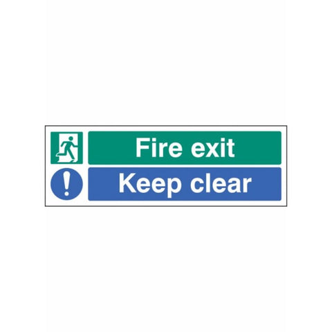 Fire exit keep clear sign from Floorsaver