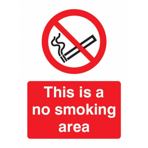 No smoking area sign from Floorsaver