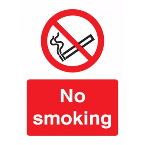 No smoking sign from Floorsaver