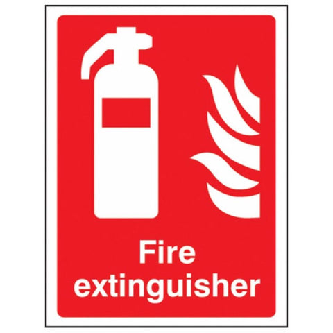 Fire extinguisher sign from Floorsaver