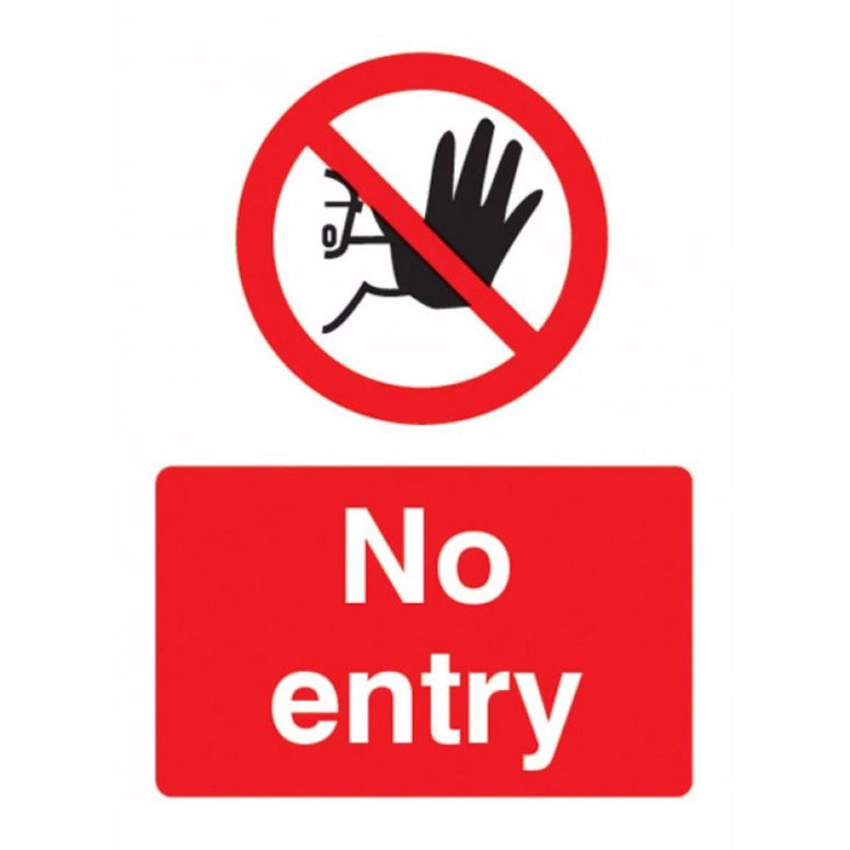 No entry sign from Floorsaver