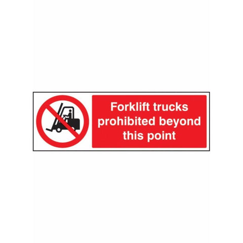 Forklift trucks prohibited beyond this point sign from Floorsaver