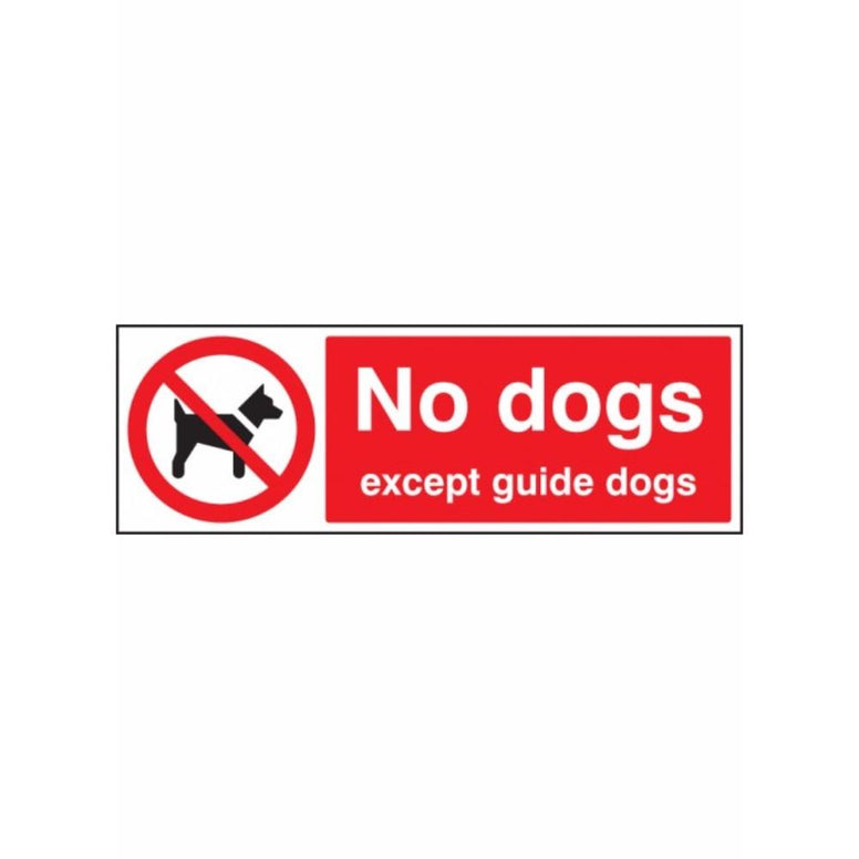 No dogs except guide dogs sign from Floorsaver