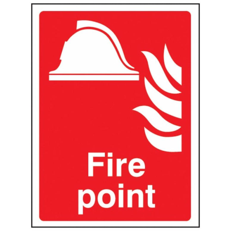 Fire point sign from Floorsaver