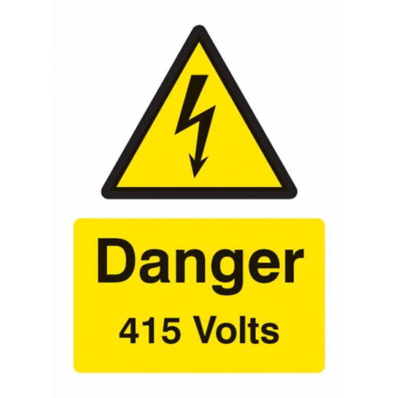Danger 415 volts sign from Floorsaver