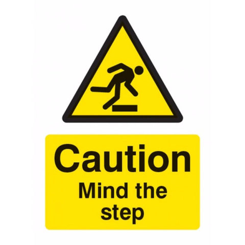 Caution mind the step sign from Floorsaver