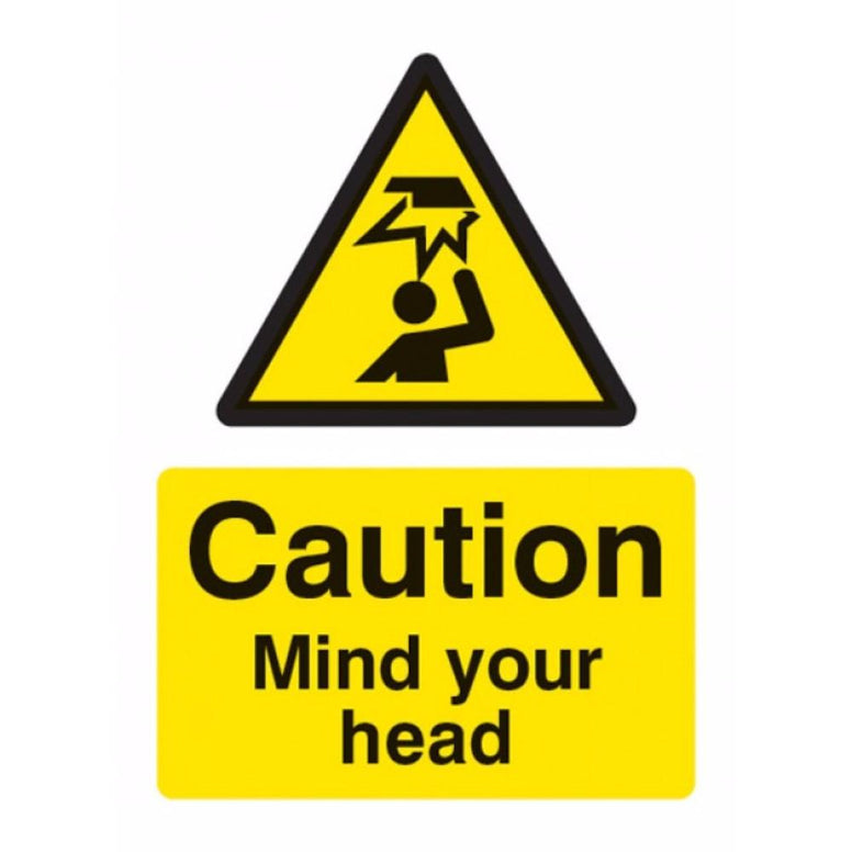 Caution mind your head sign from Floorsaver