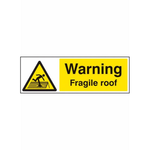 Warning fragile roof  sign from Floorsaver