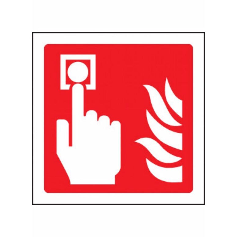 Fire alarm call point symbol sign from Floorsaver