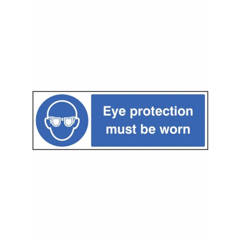 Eye protection must be worn sign from Floorsaver