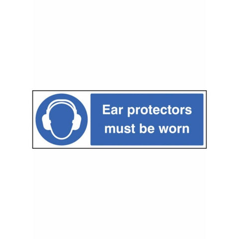Ear protectors must be worn sign from Floorsaver